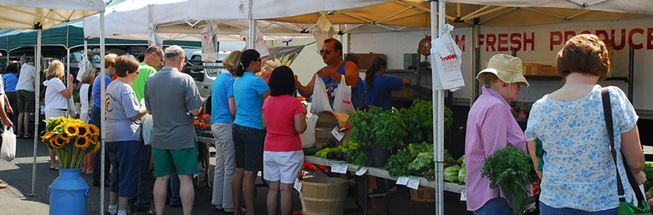 Farmers market in downtown Scotch Plains, NJ