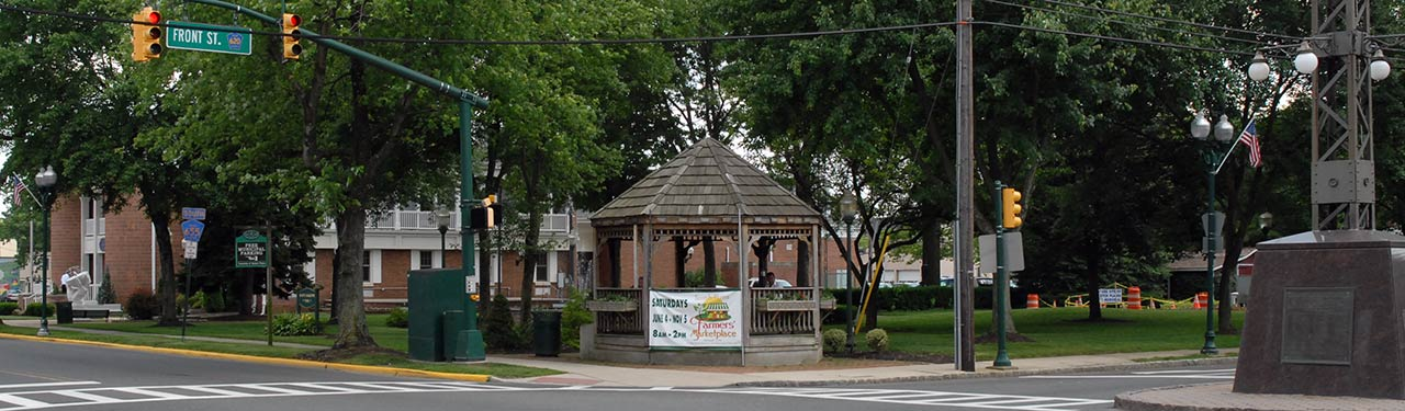 Gazebo in downtown Scotch Plains, NJ